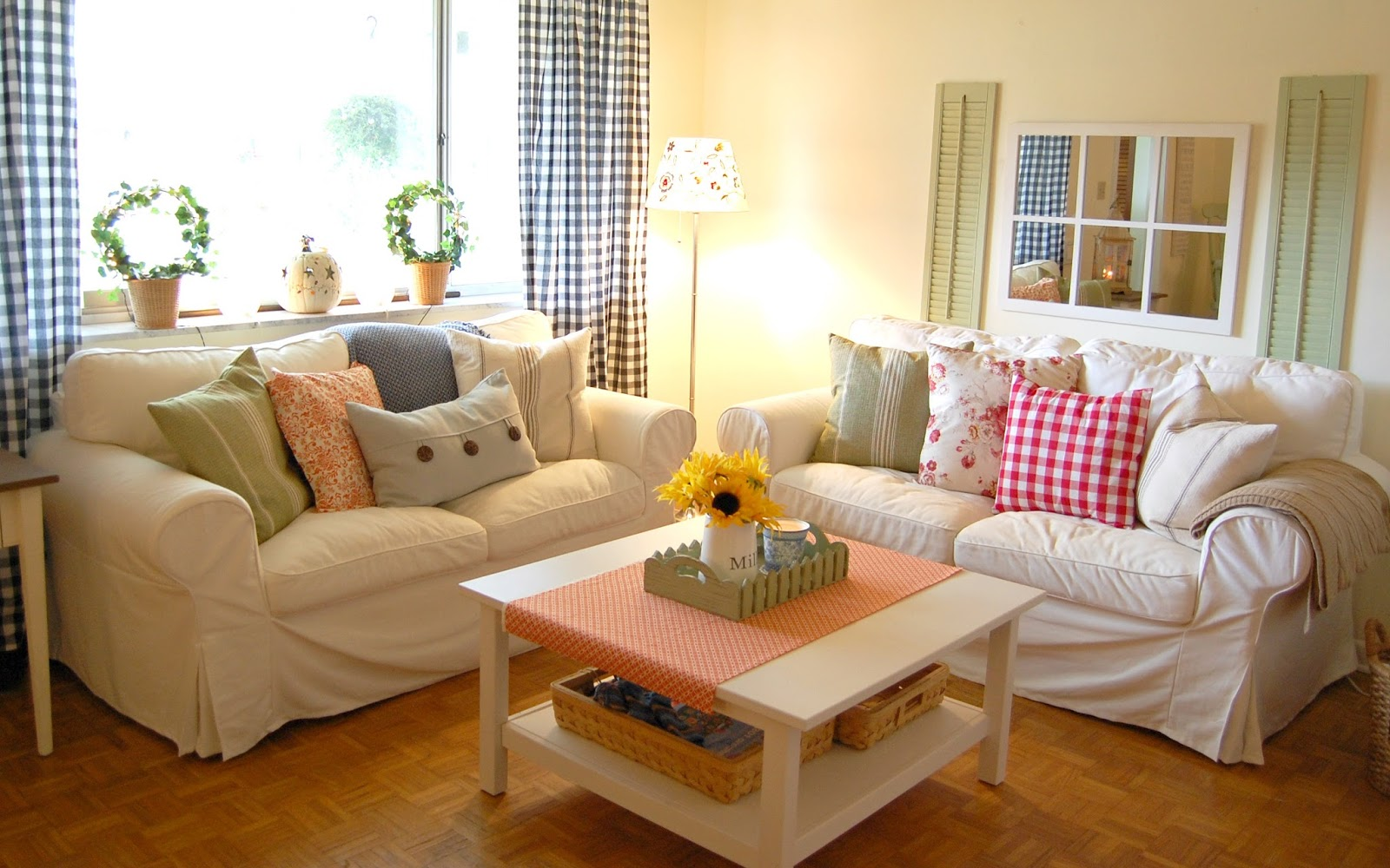 Sala de estar onde habita minha alma - Decorating living room country style ...