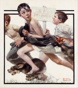 Norman_Rockwell_-_No_Swimming_-_Google_Art_Project